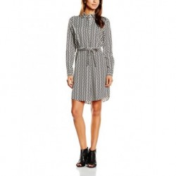 GANT Damen A-Linie Kleid N. BRAID PRINT SHIRT DRESS, Knielang