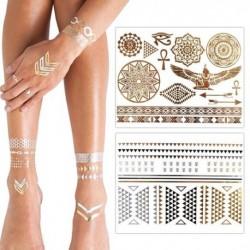 KLIMBIM Metallic Flash Gold Silber Tattoo